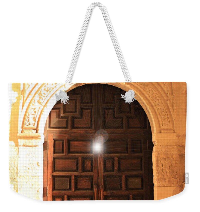 Spirit Of The Alamo Weekender Tote Bag featuring the photograph Remembering The Spirit Of The Alamo by Carol Groenen