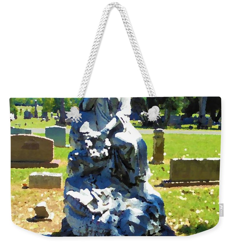 Graveyard Weekender Tote Bag featuring the photograph Remembrance by Michael Potts