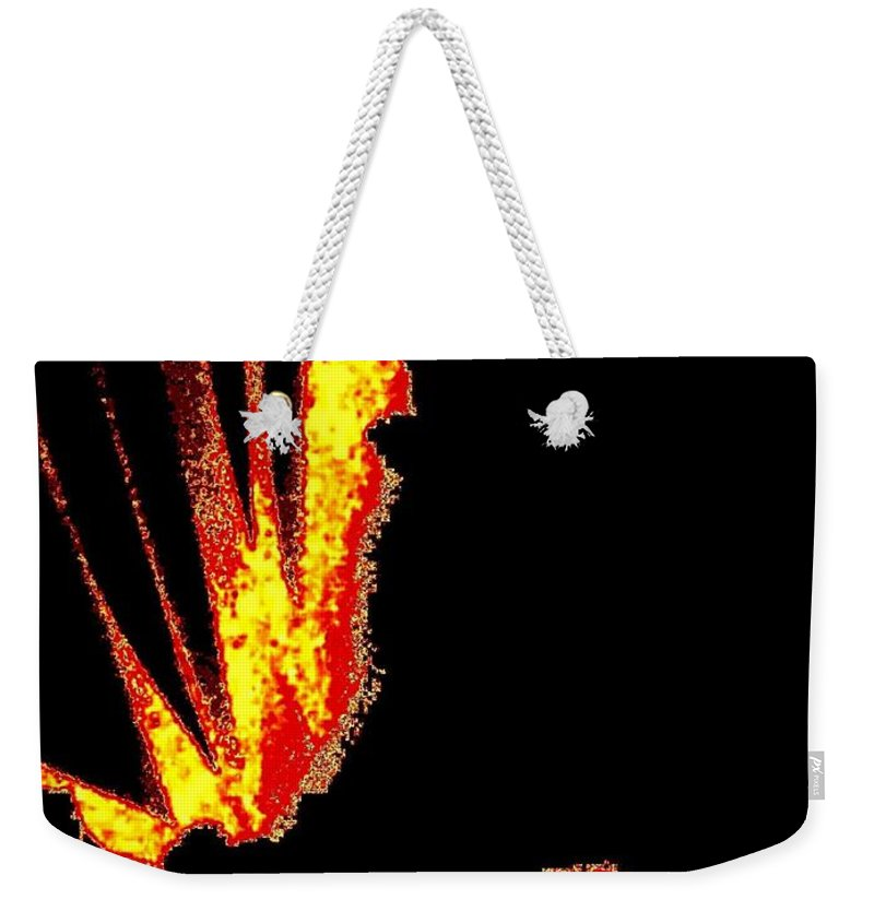 Abstract Weekender Tote Bag featuring the digital art Reminiscence by Will Borden