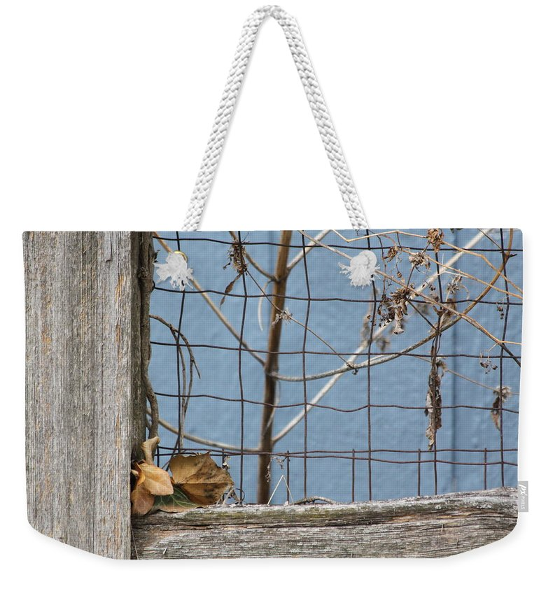 Fall Weekender Tote Bag featuring the photograph Remnants Of Fall 2 by Lauri Novak