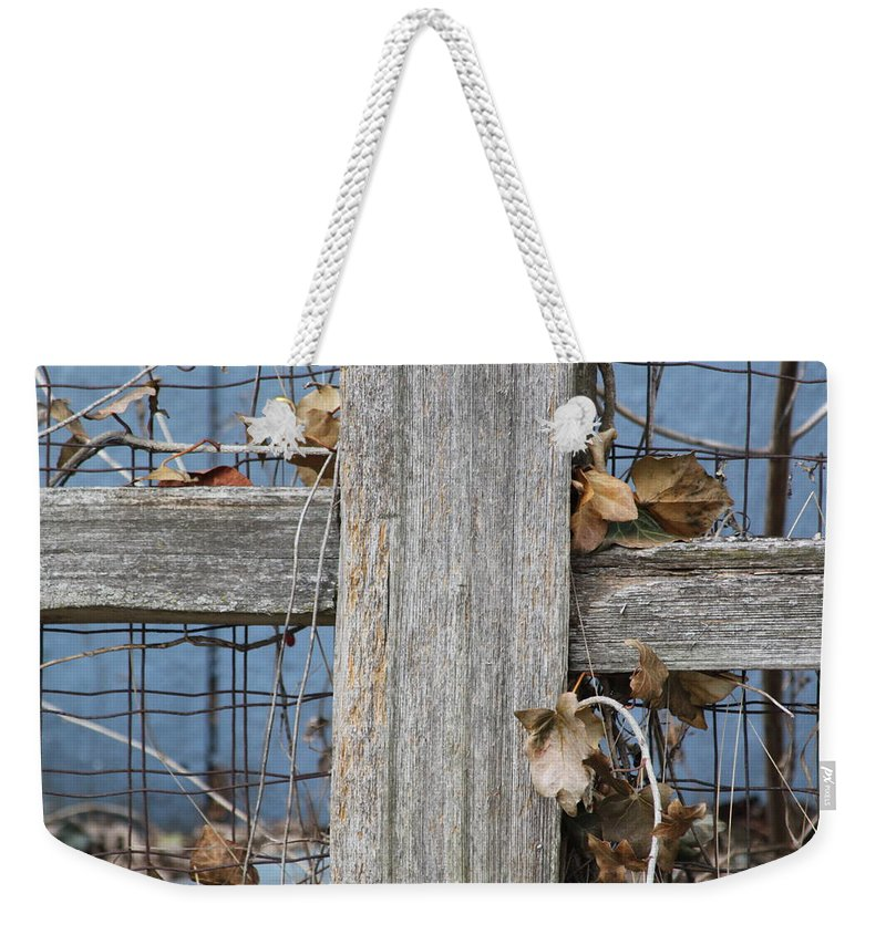 Fall Weekender Tote Bag featuring the photograph Remnants Of Fall by Lauri Novak
