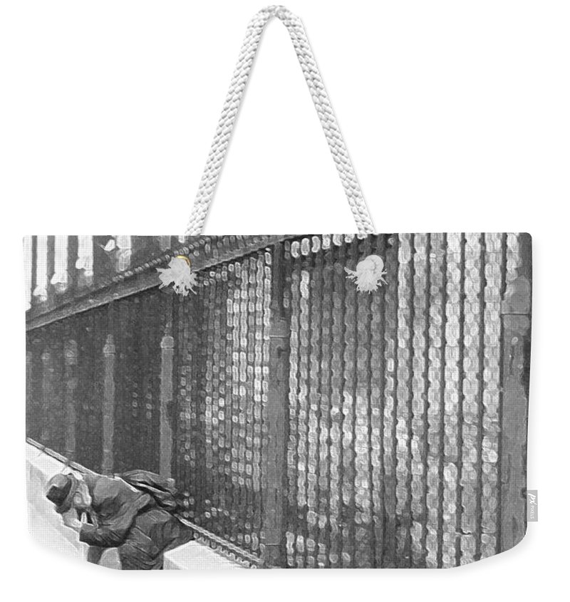 Notre Dame Weekender Tote Bag featuring the photograph Remorse by Christine Jepsen