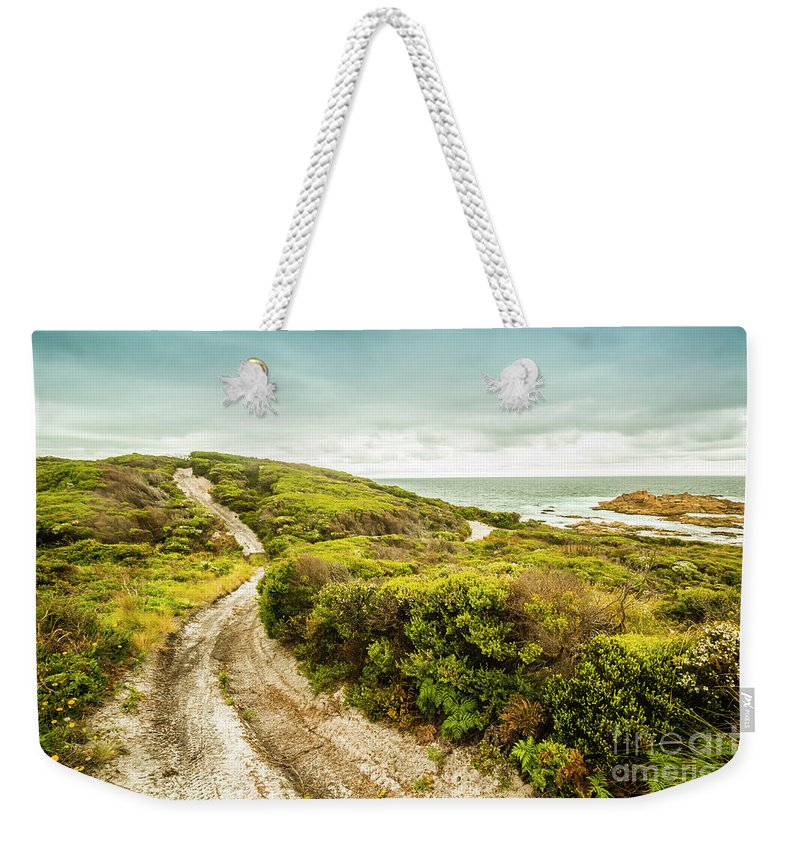 Granville Harbour Weekender Tote Bag featuring the photograph Remote Australia Beach Trail by Jorgo Photography - Wall Art Gallery