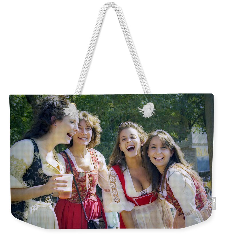2d Weekender Tote Bag featuring the photograph Renaissance Ladies by Brian Wallace