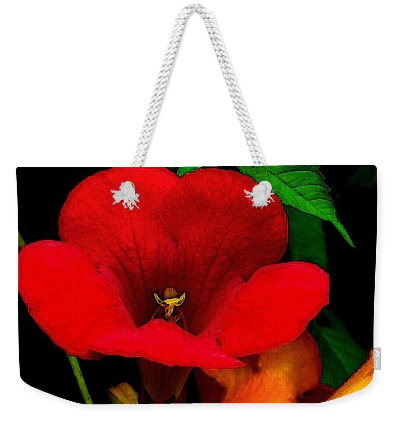 Flowers Weekender Tote Bag featuring the painting Renaissance by RC DeWinter