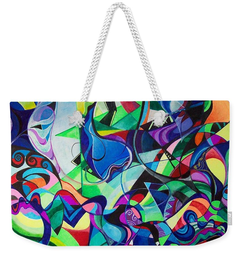 Renaissance Claudio Monteverdi Weekender Tote Bag featuring the painting Renaissance by Wolfgang Schweizer