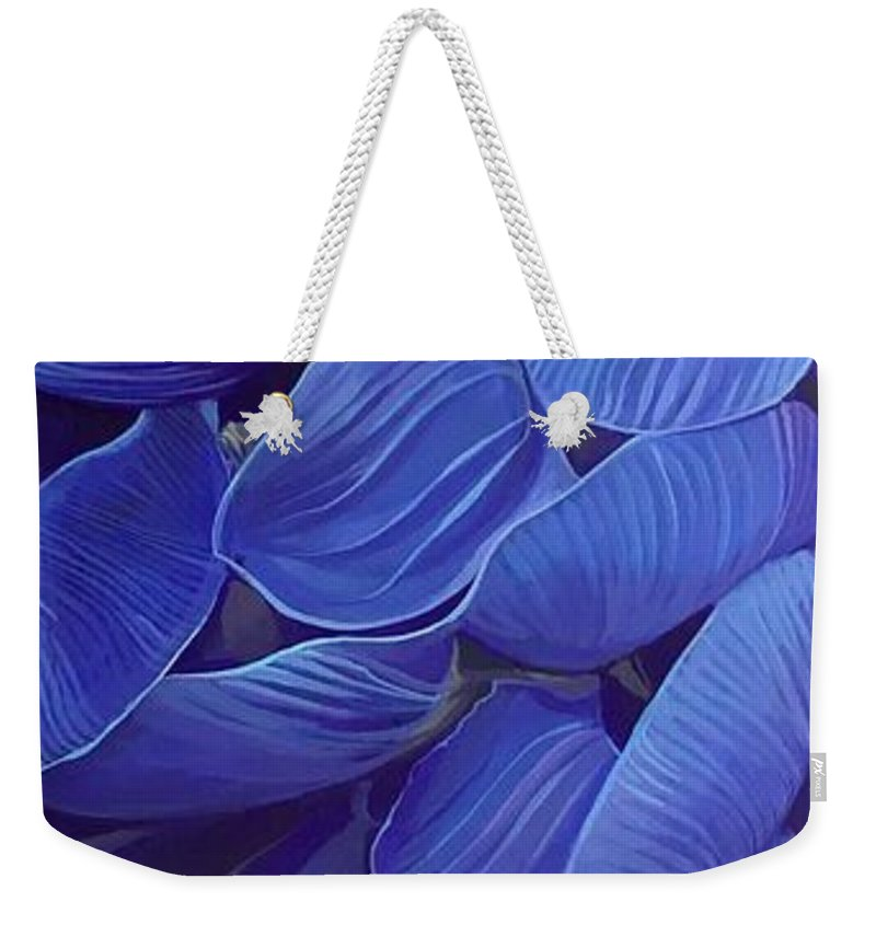 Botanical Weekender Tote Bag featuring the painting Render Love by Hunter Jay