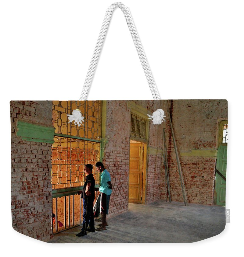 Building Renovation Weekender Tote Bag featuring the photograph Renovation In Sri Lanka by Mark Victors