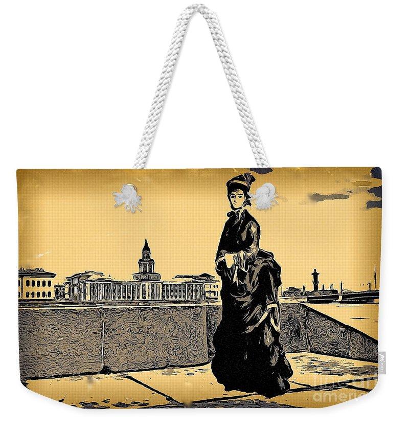Sureal Weekender Tote Bag featuring the mixed media Renuar Peterburg Collage by Yury Bashkin