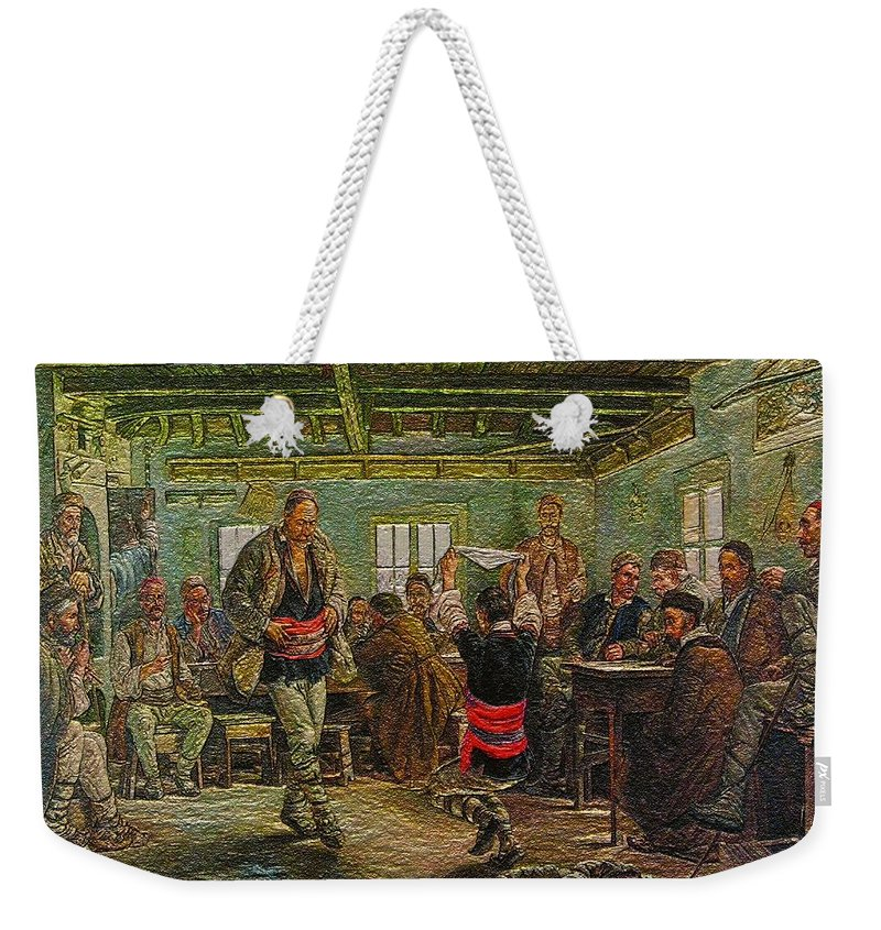 Impressionism Weekender Tote Bag featuring the painting replica of Ruchenitsa by Nikola Tanev by Pemaro