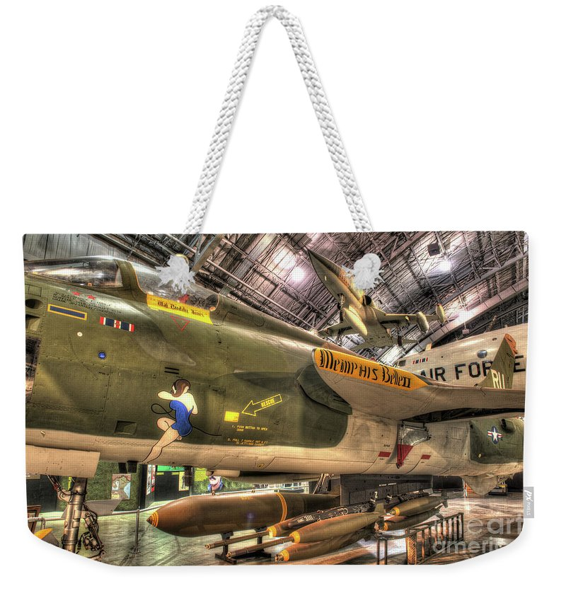 Dayton Weekender Tote Bag featuring the photograph Republic F-105 Thunderchief by Greg Hager