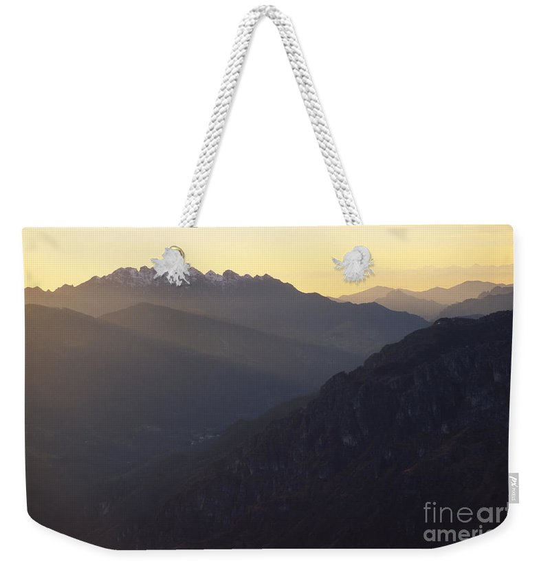 Resegone Weekender Tote Bag featuring the photograph Resegone by Riccardo Mottola
