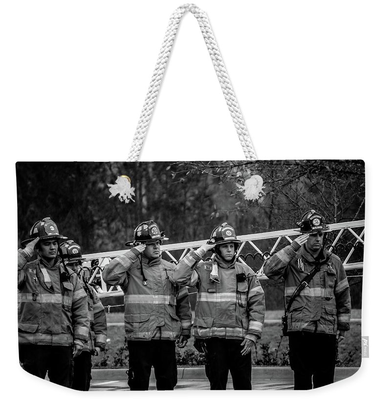 Respect Weekender Tote Bag featuring the photograph Respect by Charlie Day