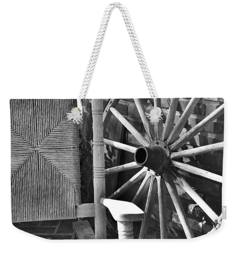 Rest Awaits Weekender Tote Bag featuring the photograph Rest Awaits Bw by Lisa Renee Ludlum