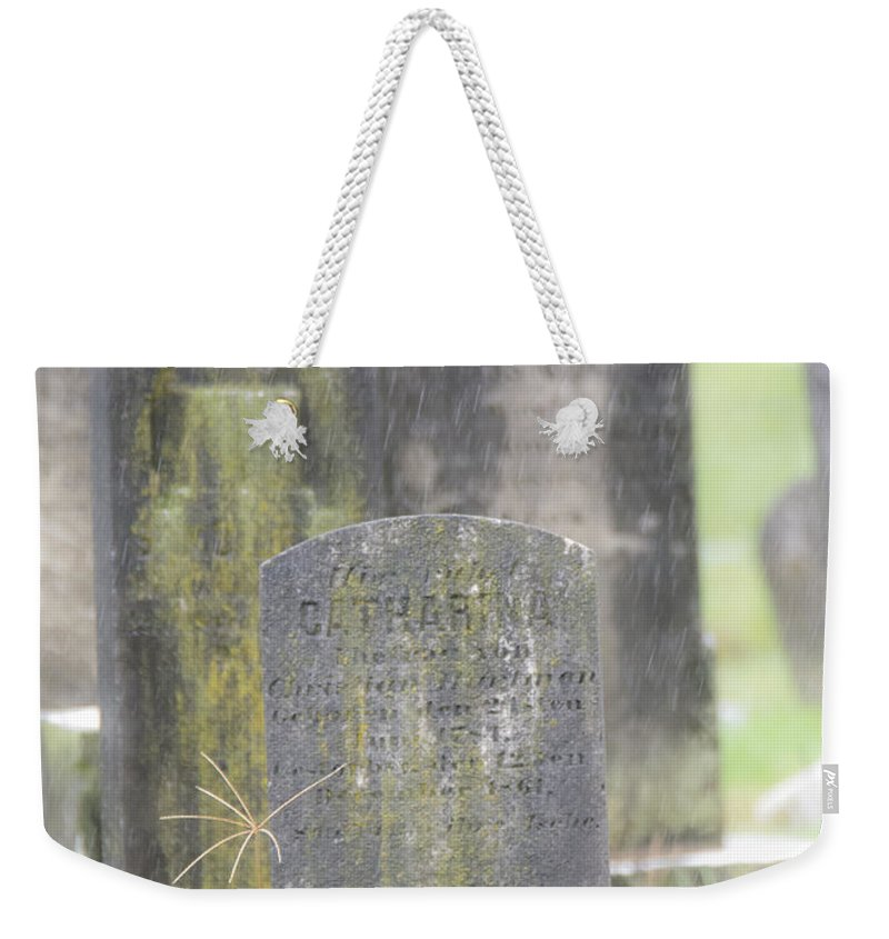 Resting Place In The Rain Weekender Tote Bag featuring the photograph Resting Place In The Rain by Tracy Winter