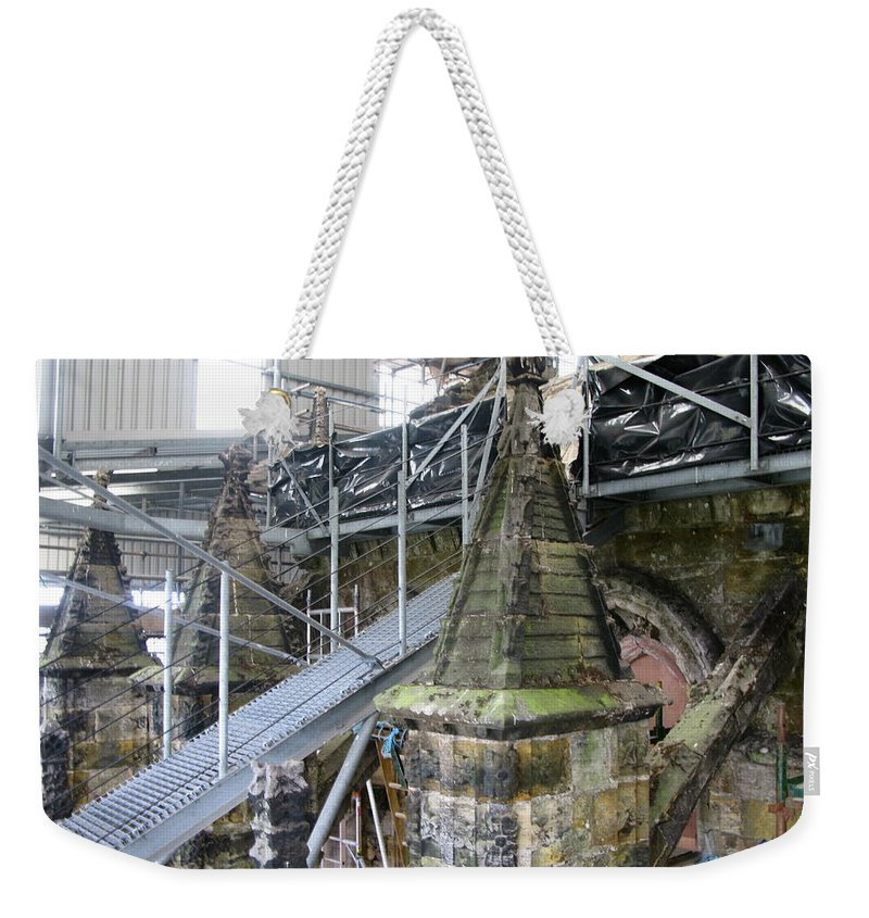 Restoration Weekender Tote Bag featuring the photograph Restoration Rosslyn Chapel by Maria Joy