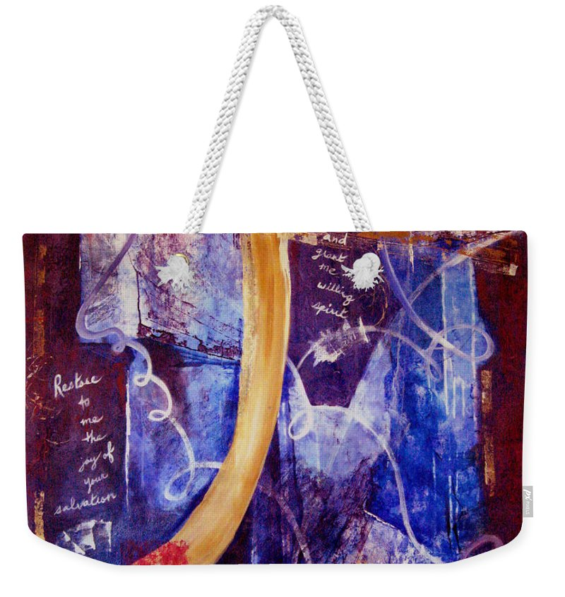 Abstract Weekender Tote Bag featuring the painting Restore To Me by Ruth Palmer