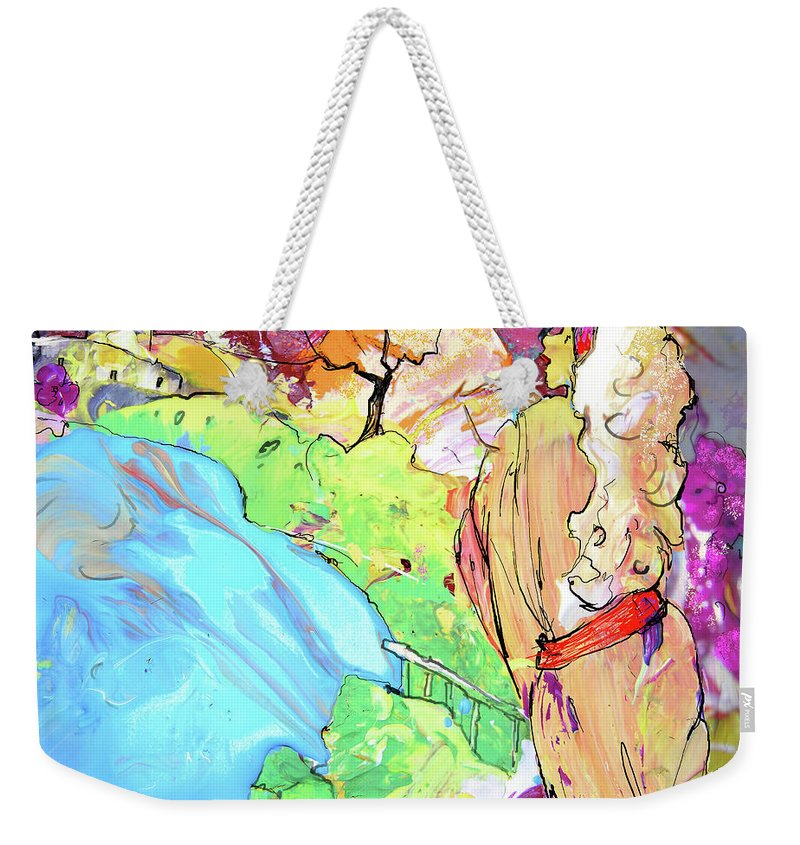 Fantasy Weekender Tote Bag featuring the painting Retour Aux Sources by Miki De Goodaboom