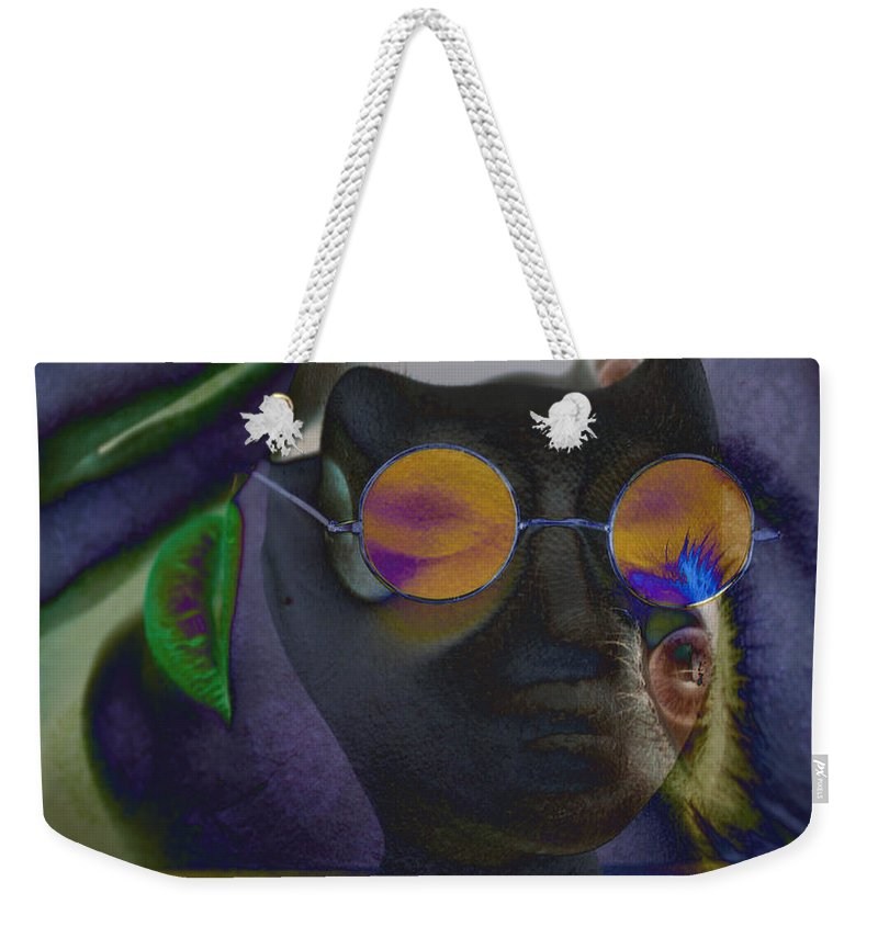 Abstract Weekender Tote Bag featuring the photograph Retreated Retro by The Artist Project