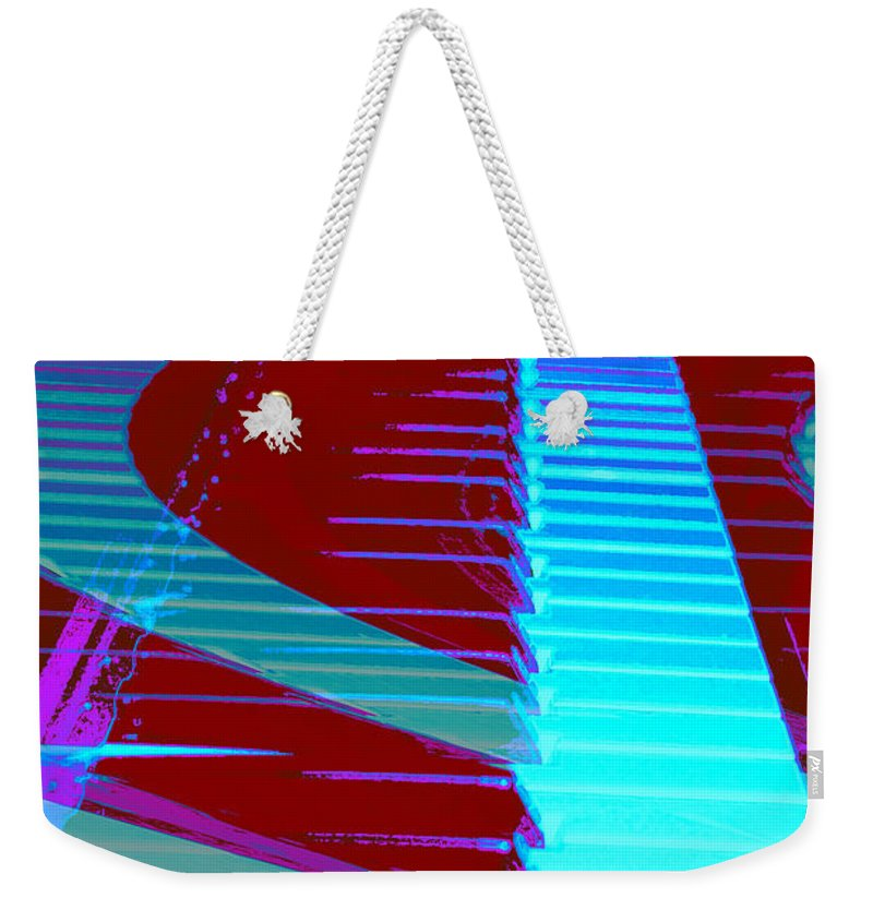 Piano Art Weekender Tote Bag featuring the photograph Retro Keys by Linda Sannuti