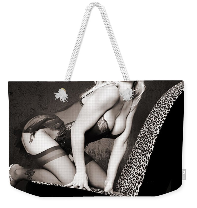 Clay Weekender Tote Bag featuring the photograph Retro Pinup by Clayton Bruster