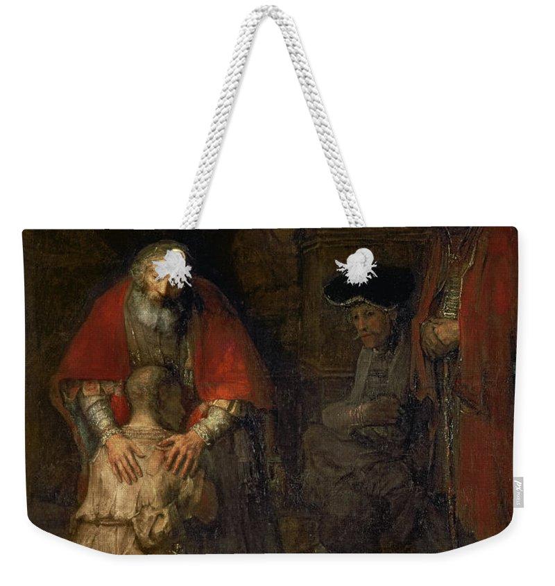 Kneeling Weekender Tote Bags