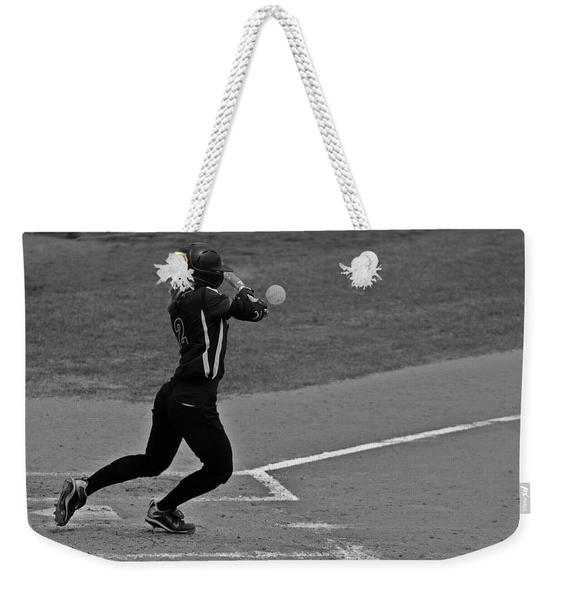 Softball Weekender Tote Bag featuring the photograph Returning To The Sender by Laddie Halupa