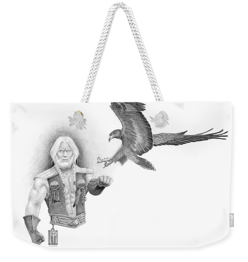 Barbarian Weekender Tote Bag featuring the painting Revan Ramstedder by Melissa A Benson