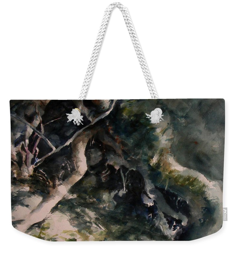 Nature Weekender Tote Bag featuring the painting Revealed by Rachel Christine Nowicki