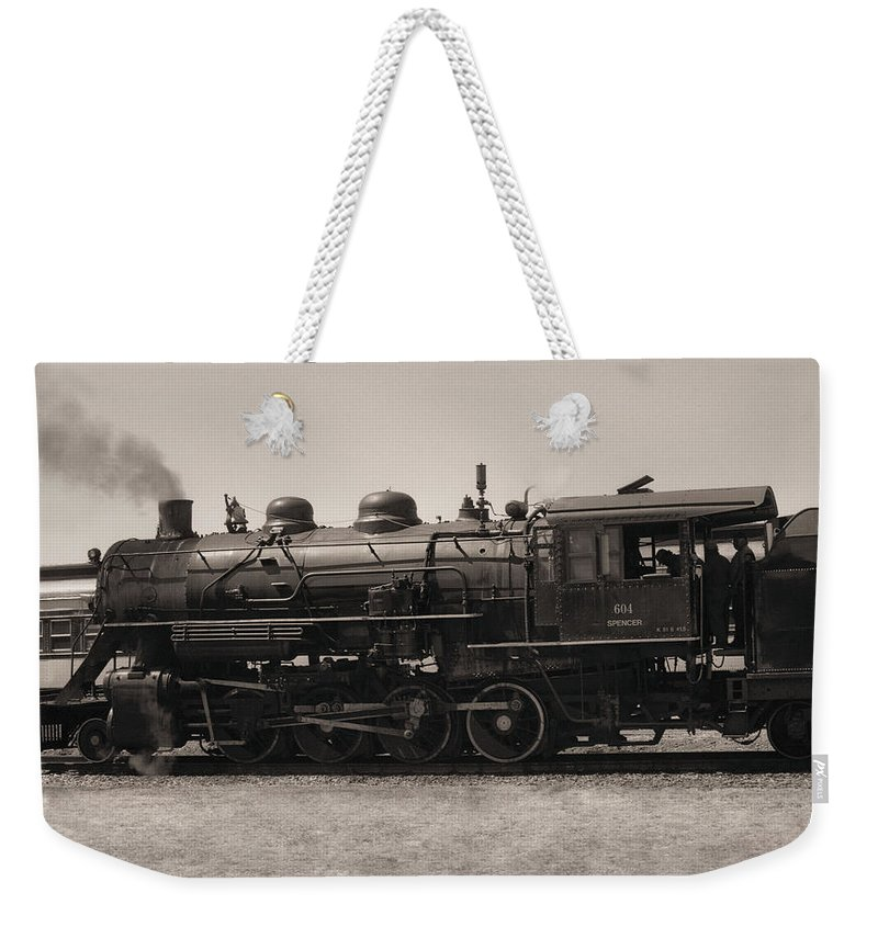 Americana Weekender Tote Bag featuring the photograph Reverse Throttle by Richard Rizzo