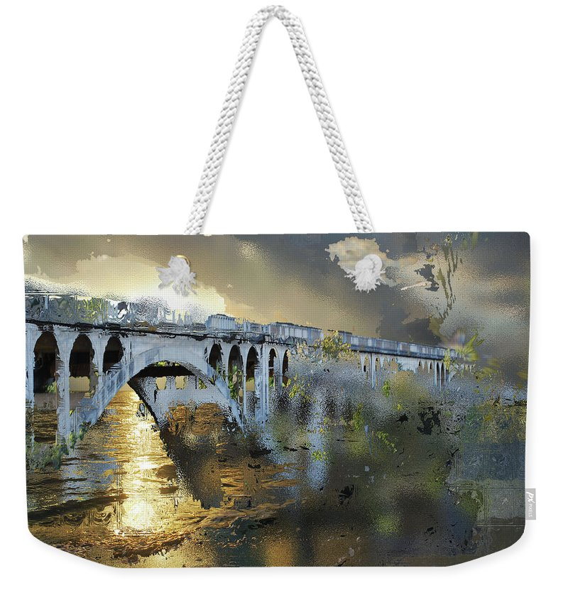 Surrealism Weekender Tote Bag featuring the digital art Rewritten Realities by Another Dimension Art