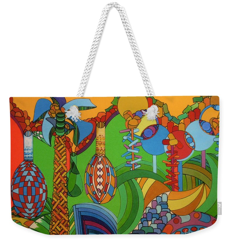 Interwoven Pigskin Weekender Tote Bag featuring the drawing Rfb0300 by Robert F Battles