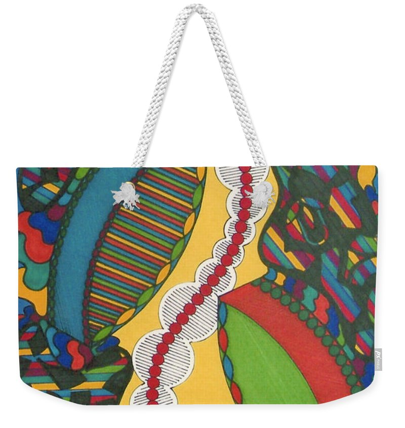 Abstract Weekender Tote Bag featuring the drawing Rfb0421 by Robert F Battles