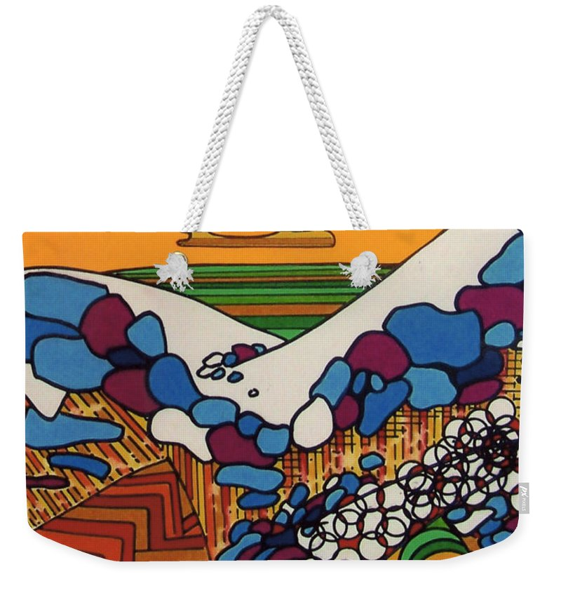 Saharah Rising Weekender Tote Bag featuring the drawing Rfb0530 by Robert F Battles