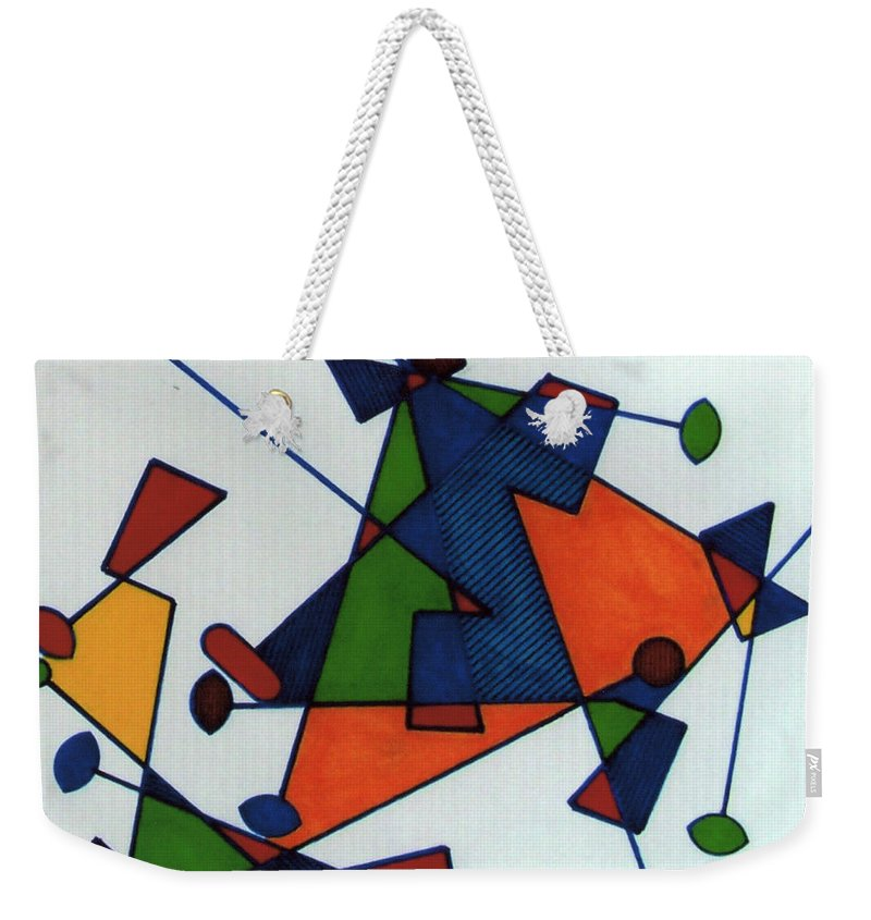 Color Movement Weekender Tote Bag featuring the drawing Rfb0586 by Robert F Battles