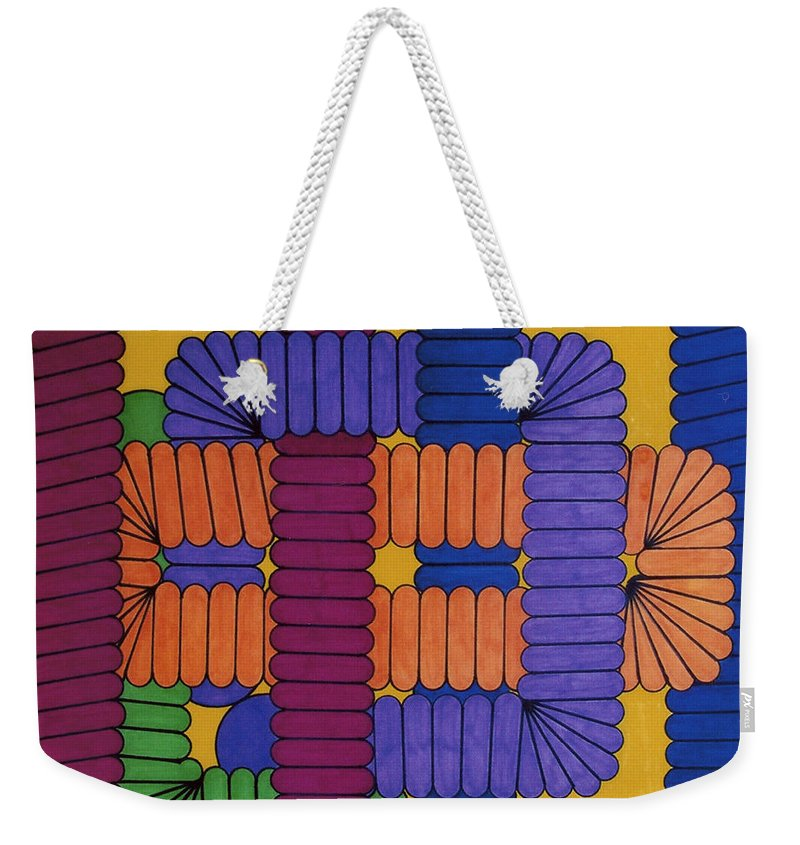 Abstract Weekender Tote Bag featuring the drawing Rfb0612 by Robert F Battles