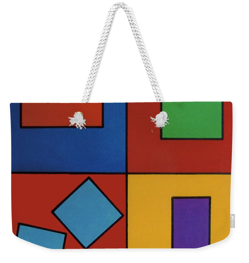 Rectangle Weekender Tote Bag featuring the drawing Rfb0618 by Robert F Battles