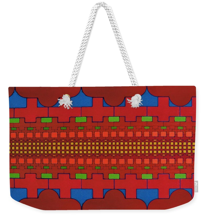 Crosses Weekender Tote Bag featuring the drawing Rfb0630 by Robert F Battles