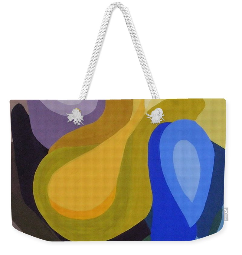 Abstract Weekender Tote Bag featuring the painting Rhapsody In Color by Cori Solomon