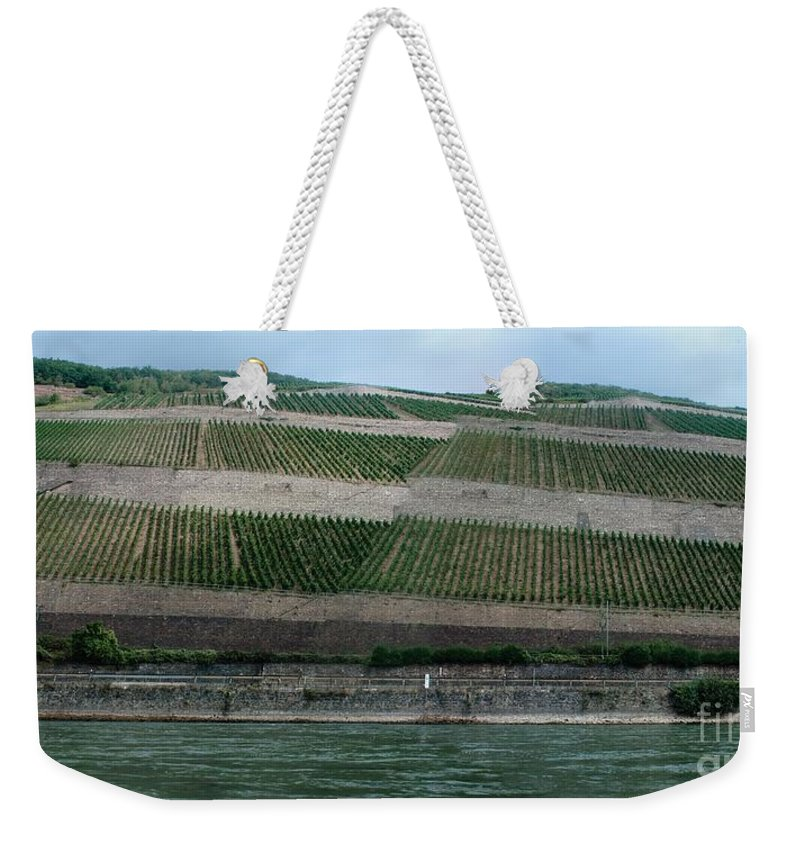 Rhine Weekender Tote Bag featuring the photograph Rhine Valley Vineyards Panorama by Thomas Marchessault