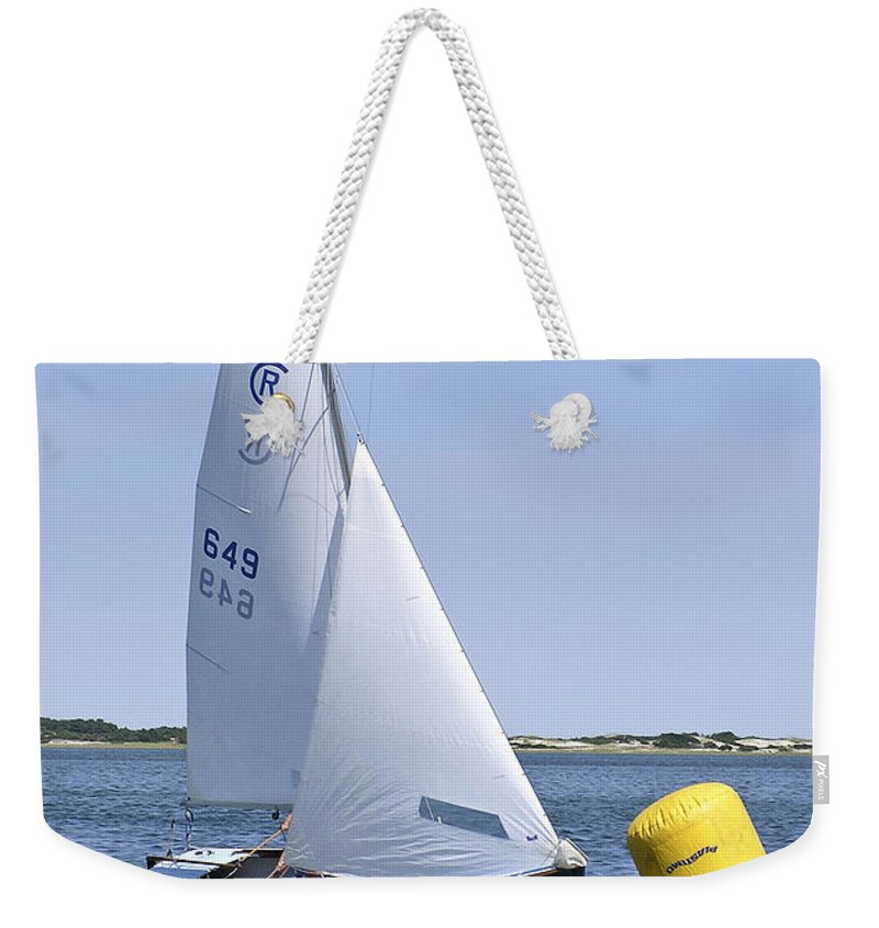 Rhodes Weekender Tote Bag featuring the photograph Rhodes 18 Rounding The Mark by Charles Harden