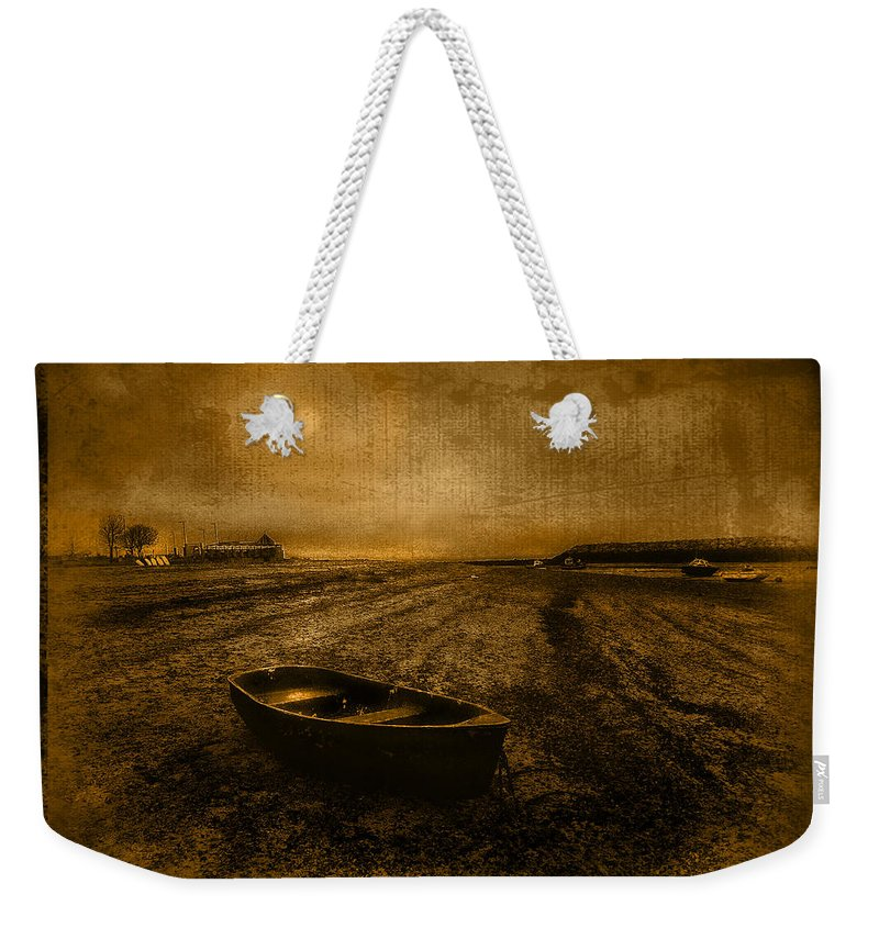 Beach Weekender Tote Bag featuring the photograph Rhos Point Beach by Mal Bray