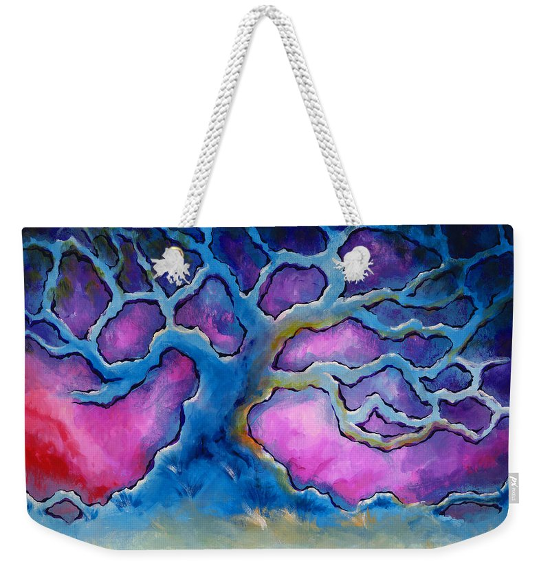 Landscape Weekender Tote Bag featuring the painting Ria by Jennifer McDuffie