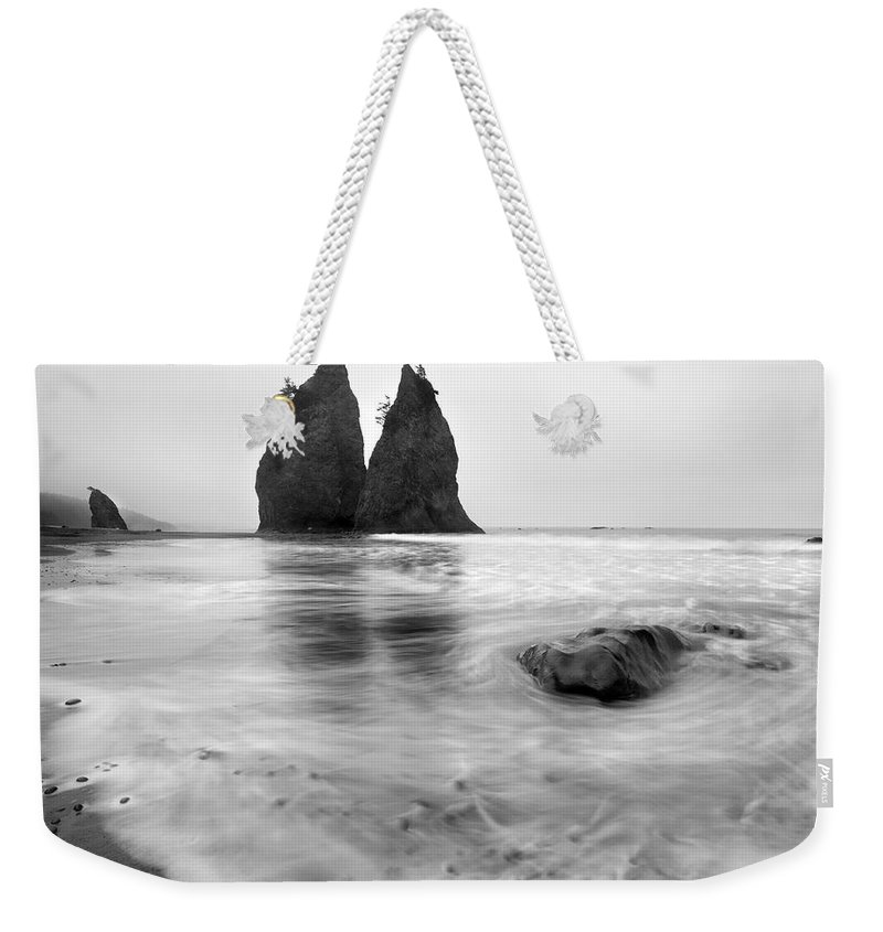 Beach Weekender Tote Bag featuring the photograph Rialto Reflections by Mike Dawson