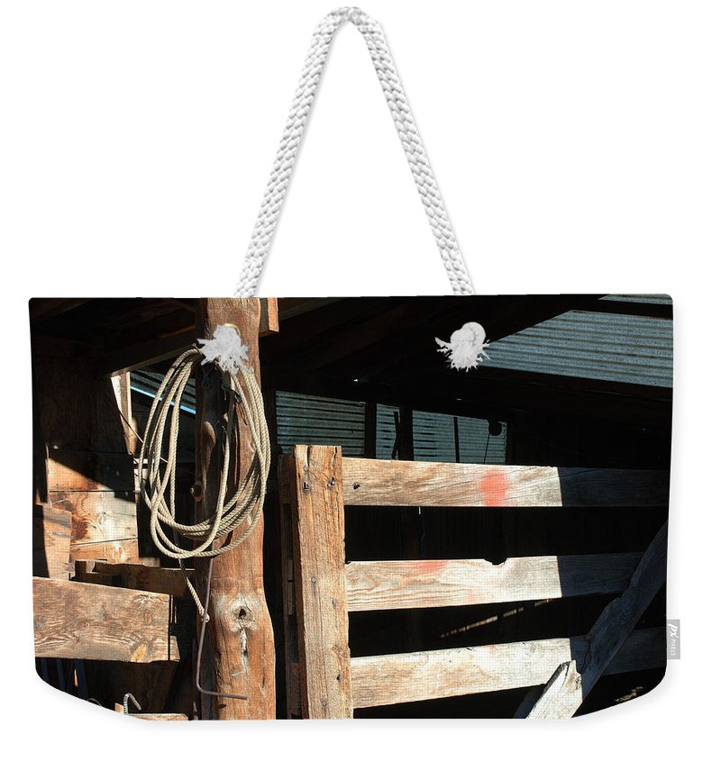Riata Weekender Tote Bag featuring the photograph Riata by Jerry McElroy