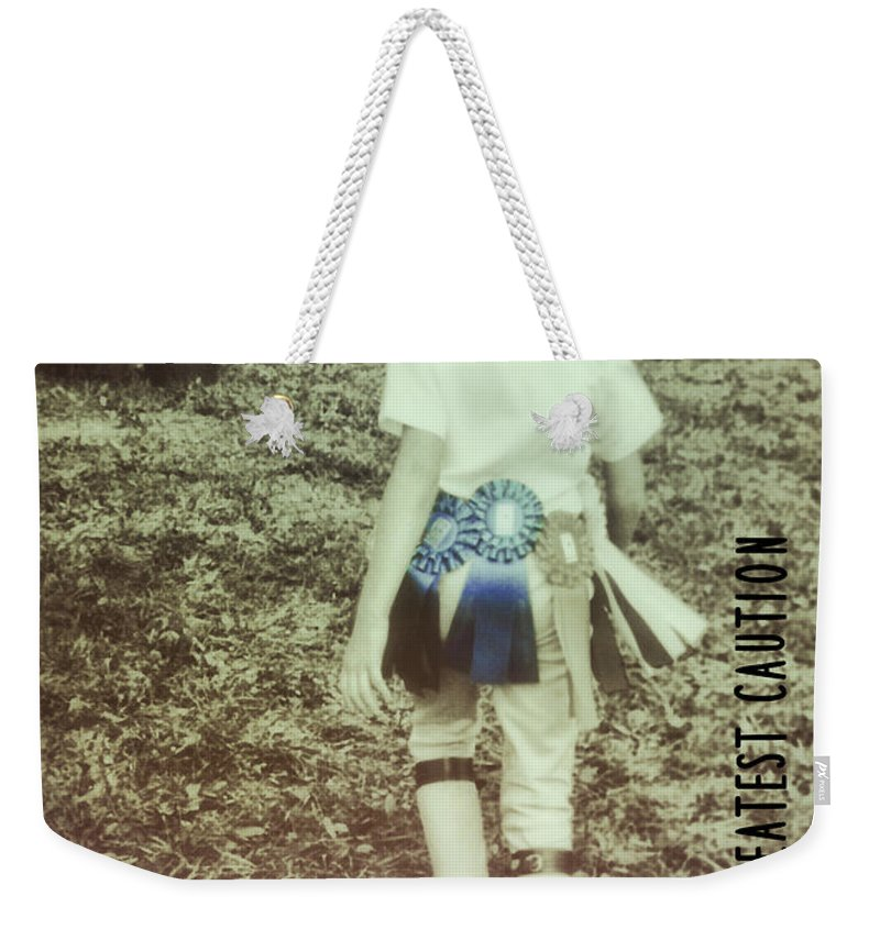 Rider Weekender Tote Bag featuring the photograph Ribbon Success Quote by JAMART Photography