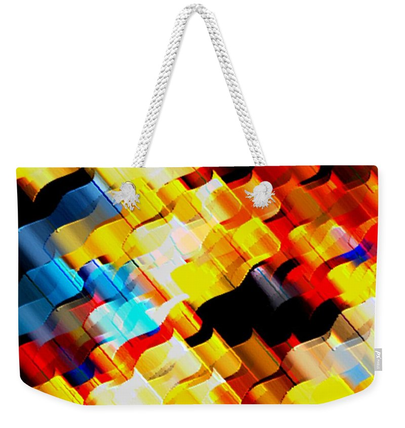 Robons Weekender Tote Bag featuring the digital art Ribons by Dragica Micki Fortuna