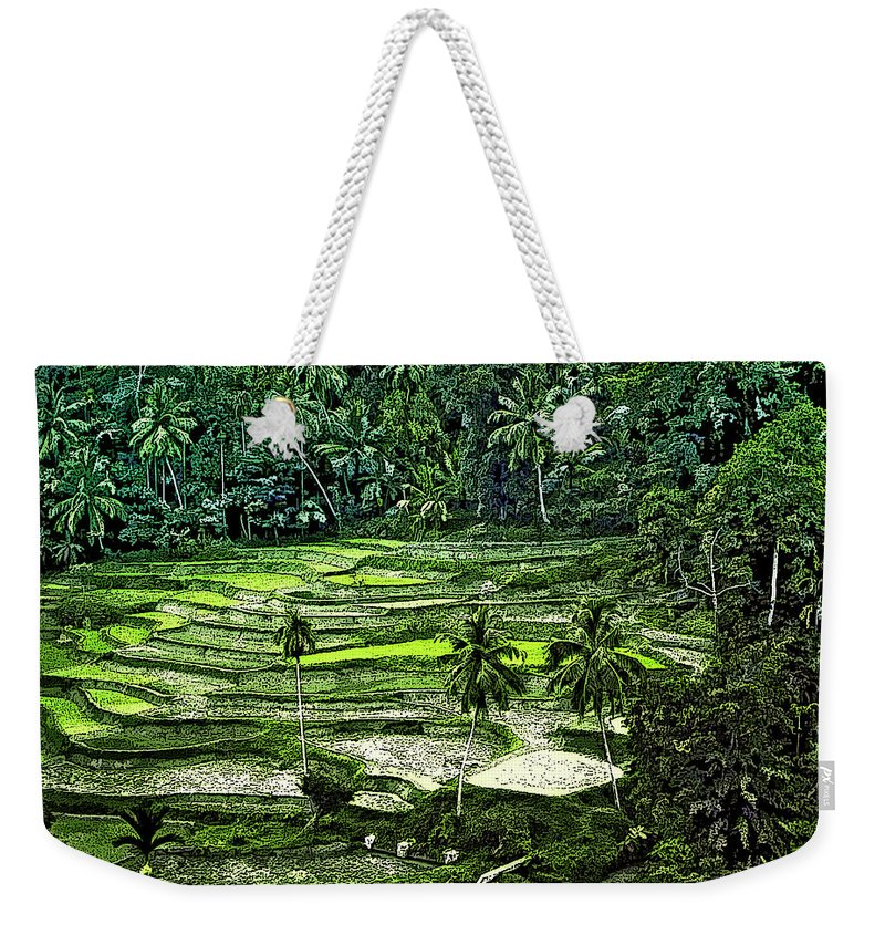 Sri Lanka Weekender Tote Bag featuring the photograph Rice Paddies by Steve Harrington