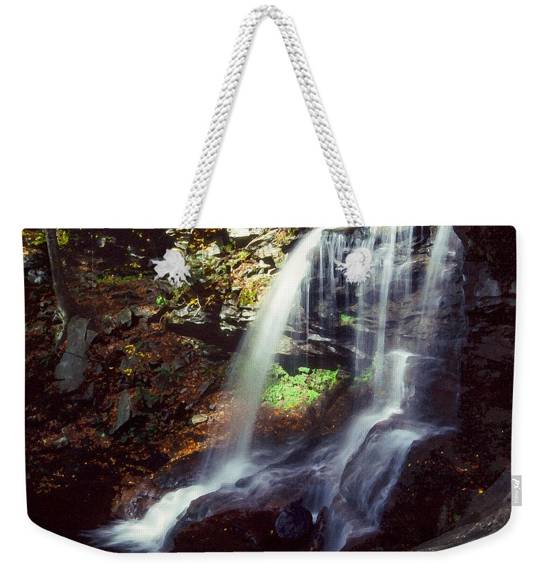 Ricketts Glen State Park Weekender Tote Bag featuring the photograph Ricketts Glen Falls 029 by Scott McAllister