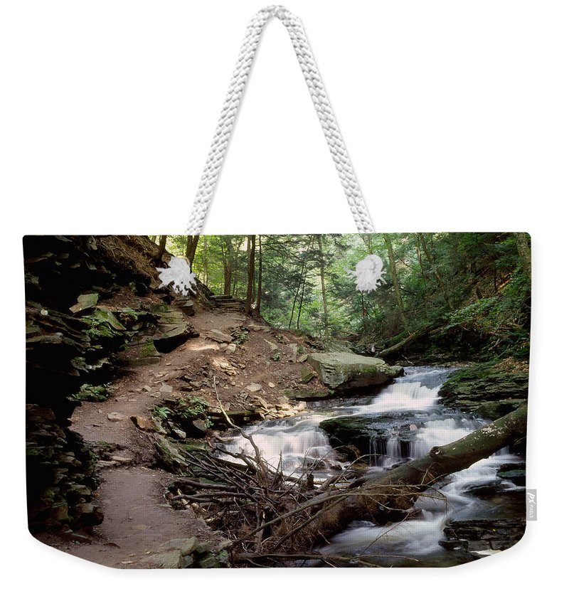 Ricketts Glen State Park Weekender Tote Bag featuring the photograph Ricketts Glen Falls 030 by Scott McAllister